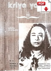 Kriya Yoga Magazine Español 1975