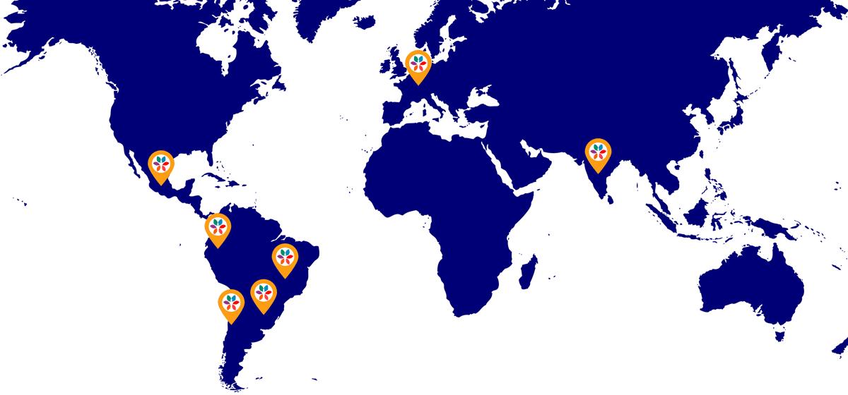 Centros Kriya Yoga El Arte de la Paz en El Mundo