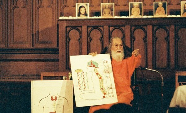 Baba demonstrating with diagram1