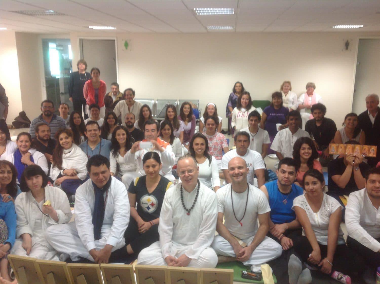 Primer Iniciación en Kriya Yoga en México por Yogi Sarveshwarananda Giri junio de 2016